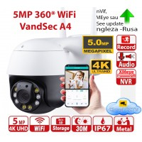 IP camera WiFi 360 5MP 4K 3840x2160p IR>30m microCD>128Gb