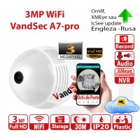 IP camera WiFi bec 3Mp Full-HD 1920x1080p IR>30m microCD>128Gb