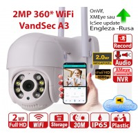 IP camera WiFi 360 2Mp Full-HD 1920x1080p IR>30m microCD>128Gb